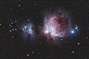 M42 + M43 Orion Nebula with an ASA N8 20cm f2.75 astrograph and modified Canon 350D